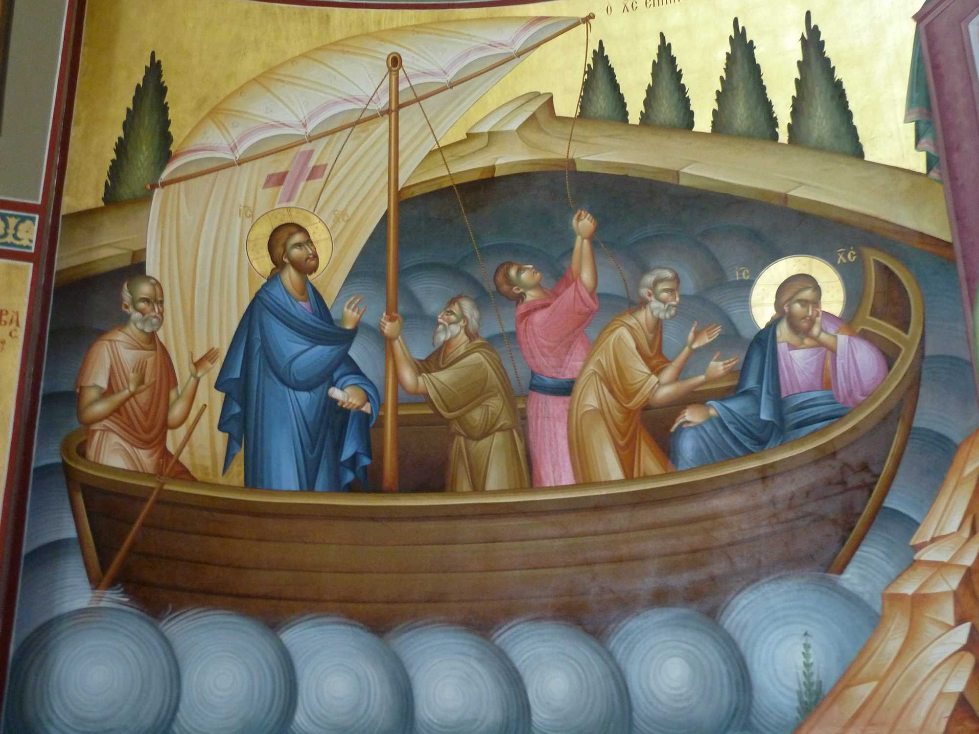 Jesus in boat with disciples  dans immagini sacre 2013-04-19_00119